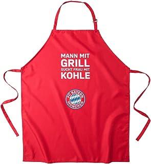 FC Bayern München Grillschürze Mann mit Grill, sucht. mia san mia