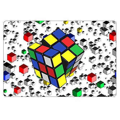 eazyhurry Alfombra de piso con estampado de cubo de Rubik para dormitorio o cocina (CC1300)