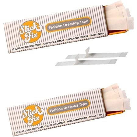 SlickFix Fashion Dressing Tape (Two-sided tape/Body Tape) Pack of 36