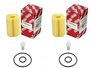 Genuine Oil Filter - 04152-YZZA4 Fit for TOYOTA LEXUS TRUCK LX570 V8-5.7L (32V) DOHC 3UR-FE 2009-2008 (QTY 2)