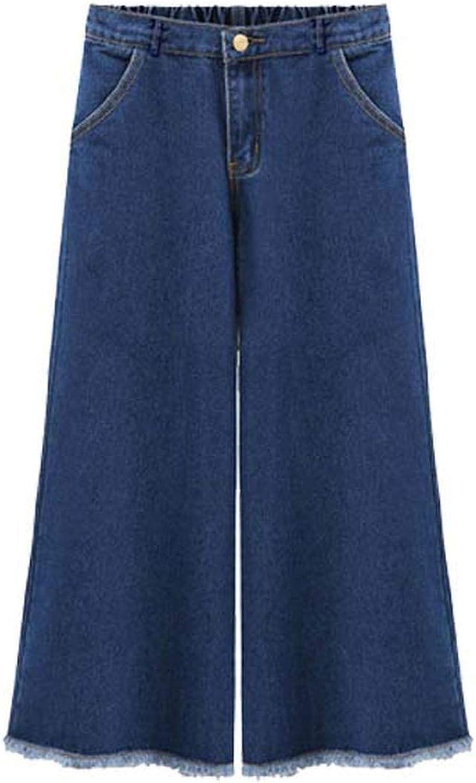 blueeshore Plus Size Women AnkleLength Pants Summer Wide Leg Pants Extra Large Loose Jeans Female