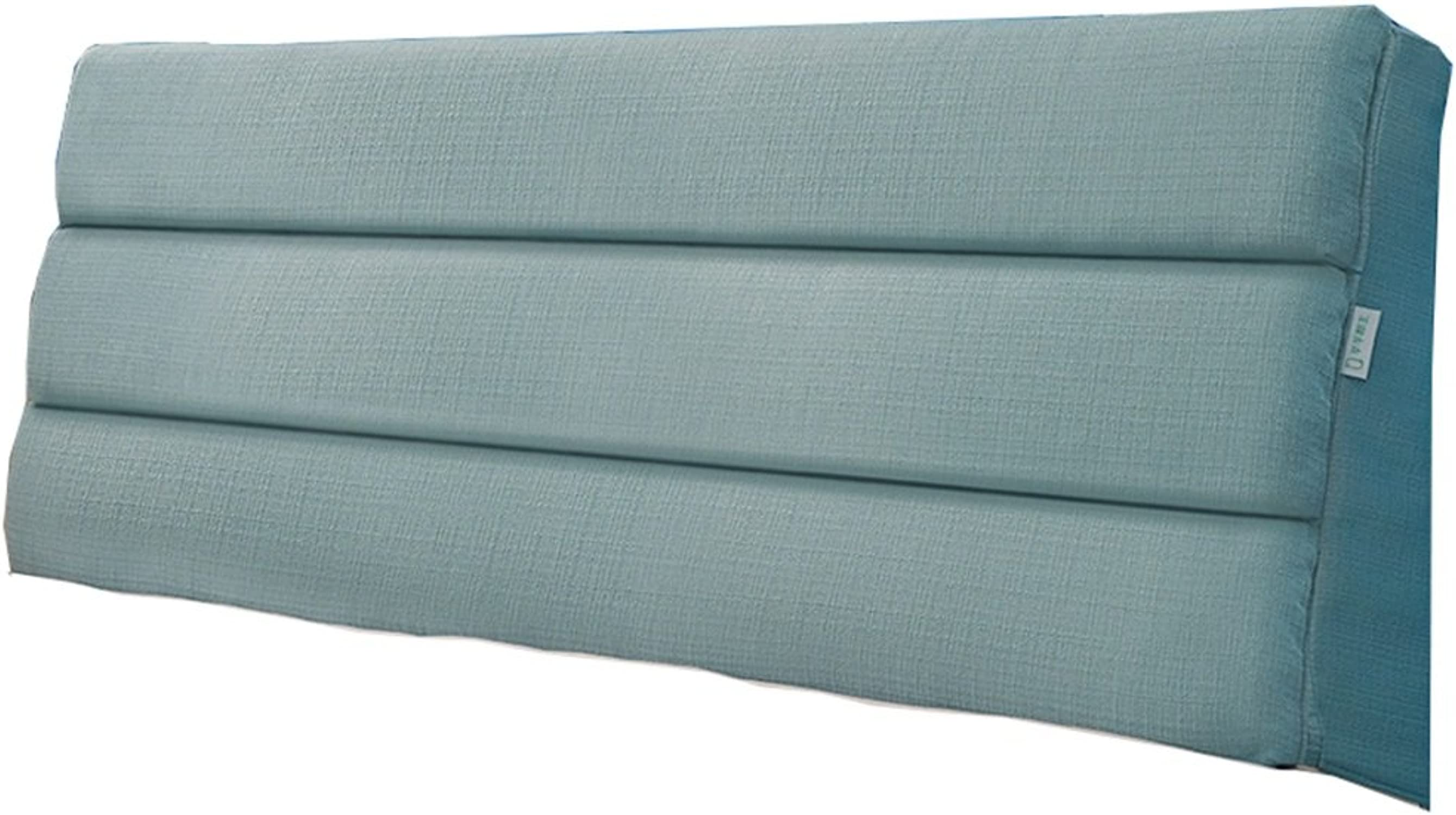 Grand coussin lit doux pack lit double taille retour tissu de lin oreiller adapté pour le lit avec tête de lit 6 couleurs 4 tailles 60 cm de hauteur (Couleur   Cyan-bleu, taille   200  5  60cm)