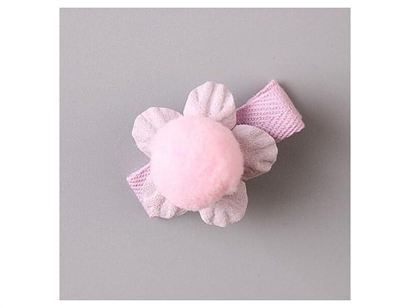 バイオリンアカウント再びOsize 美しいスタイル 小さな花のヘアクリップ子供のかわいいサイドクリップヘアピンフラワーヘッドドレス(ピンク)