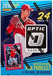 2018 Donruss Optic Baseball Blaster (6 Packs/4 Cards: 1 Pink Parallel per pack)
