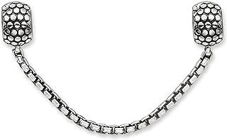 Thomas Sabo Femmes Hommes-Chaîne de sécurité Karma Beads Argent Sterling 925 noirci Silicone KS0003-585-12