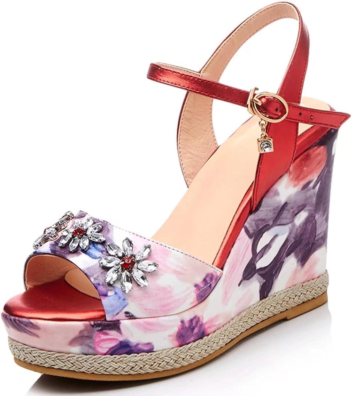 KingRover Women's Ankle Strap Platform Fashion High Heel Mixed colors Stiletto Sandals