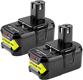 FUNMALL 18V 2.5Ah Lithium-ion Batterie Remplacement pour Ryobi One P108 P107 P1