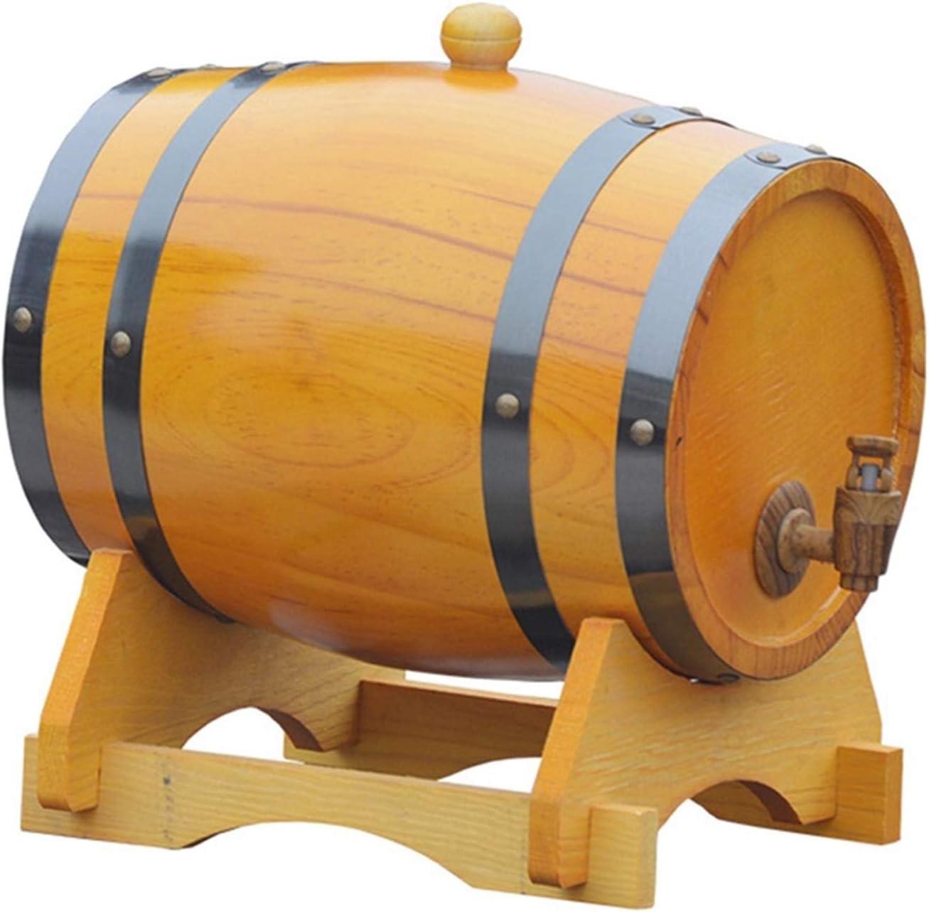 LPLND Barril de Vino Barril de Vino de Madera de Roble, Whisky Barril Barril de Vino Barril de Madera, for Guardar su Propio Whisky, Cerveza, Vino, borbón, Brandy (Color : A, Size : 1.5L)