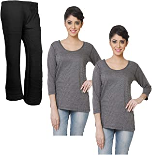 80d57132e KAYU IndiWeaves Winter Wear Premium Grey Thermal Top and Woolen Palazzo for  Winter Wear (Pack