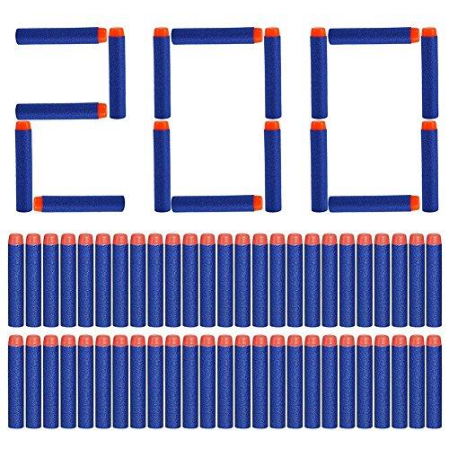 Yosoo Nachfüllpack für Nerf Elite 200 Darts, 7,2 cm