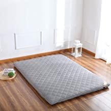 Japanese Floor Futon Mattress, Foldable Thick Tatami Mat Portable Sleeping Pad Quilted Fitted Mattress for Student Dormito...