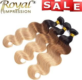 10A Ombre Brazilian Body Wave Human Hair 3 Bundles (T1B/30/27,14