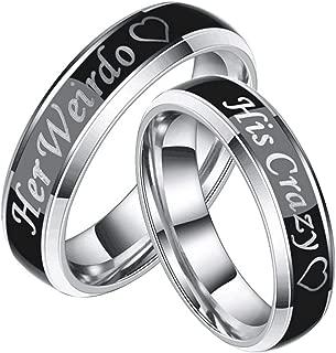 Amazon.es: Anillo De Matrimonio - Acero inoxidable: Joyería