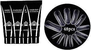 Gel nail kitAnself - Alargador de uñas de gel + 48 piezas Consejos para la construcción de moldes rápidos Set para gel na...