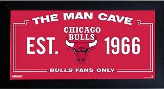 NBA Man Cave Sign 10x20 Framed Photo