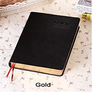 Durable Office Supplies, Retro Notebook Fun Office Supplies, Leather Diary Jersh-school&office Supplies for School Office Stationery Office (Color : Gold)