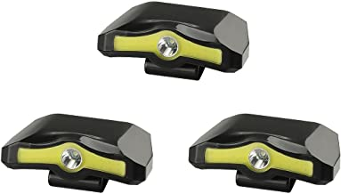 X-BALOG 3 Pack 350 Lumens LED Cap Light Clip Headlamp 2 Modes Rotatable COB Ball Hat Lamp Power by 3XAAA Batteries for Reading Fishing Working Walking the Dog