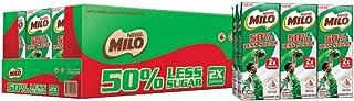 MILO UHT 50% Less Sugar Chocolate Malted Milk, 200ml (Pack of 24)
