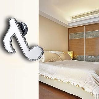 Aaedrag LED Wall Lamp Interior Luxury Elegant Creative Personality K9 Crystal Wall Lamp Modern Crystal Wall Lamp 18W Villa...