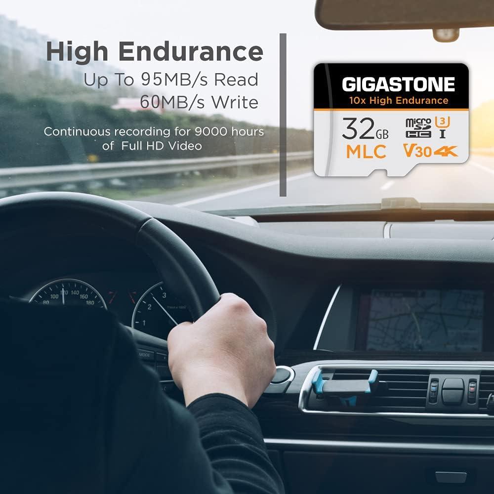 Gigastone 32GB 5-Pack MLC Micro SD Card, 10x High Endurance 4K Video Recording, Security Cam, Dash Cam, Surveillance Compatible 95MB/s, U3 C10