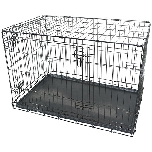 Black Metal Folding 36' Pet Crate Dog Crate Cage Transport