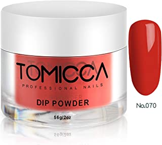 TOMICCA Acrylic Powder Nail Dipping Dip Powder (Bright Red 070)