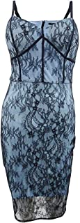 GUESS Womens Lace Bustier Sheath Dress