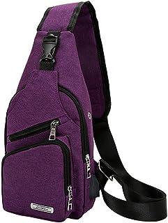 Bolsa de pecho de los hombres de moda de todo partido bolso de mensajero casual Oxford tela mochila doble propósito multif...