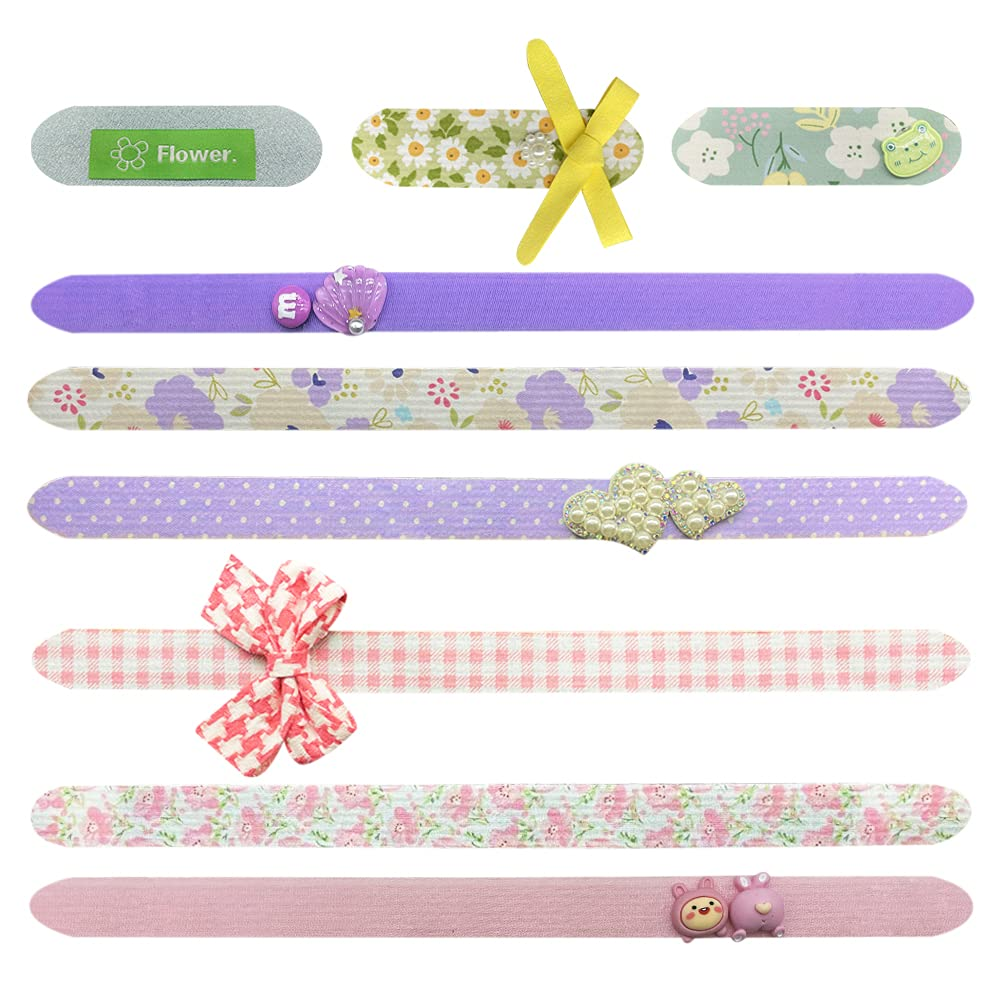 Hair Grippers Headbands for Girls,Cute Magic Hair Patch Small Broken Hair Fixed Pad for Baby Girls Toddlers Kids Children Teen Girls(Pink/Violet/Green)