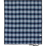Pendleton Plaid Roll Up Wool Warm Camping Throw Blanket, Navy, One Size