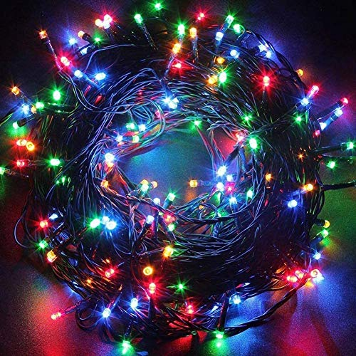Christmas String Lights 12m 39ft 120 LEDs Outdoor Indoor 8 Modes Memory Function Waterproof Expandable Female and Male Plug in Fairy Lights for Halloween Party Wedding Pubs (Multi-Color)