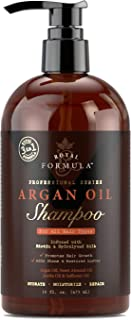 Royal Formula - Argan Oil Shampoo with Biotin for Thinning Hair - Sulfate Free - Volumizing Safe For Colored & Keratin Treated Hair - Regrowth for Men and Women 16 Fl. Oz (Shampoo)