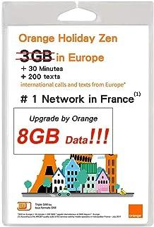 OKV Orange Holiday ヨーロッパ - プリペイドSIMカード ー 4G通信 8GB 30分 SMS 200通 (8GB) (8GB)
