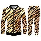 BSDASH Uomo Set Tiger Stripes Stampa 3D Felpe Con Cappuccio E Pantaloni Da Jogging Set Streetwear Trendy Set Oversize 03165JKPA XL