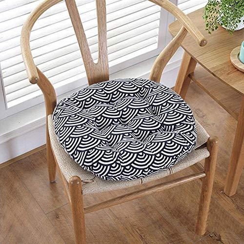 Cojín grueso Tatami para asiento, redondo y transpirable, cojín redondo para sillas de comedor, cocina, jardín, diámetro 59 cm, tamaño: diámetro 49 cm, color: K