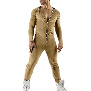 Pijamas para hombre con impresi/ón 3D elegante mono de una pieza c/ómoda ropa de dormir larga Sleeeve