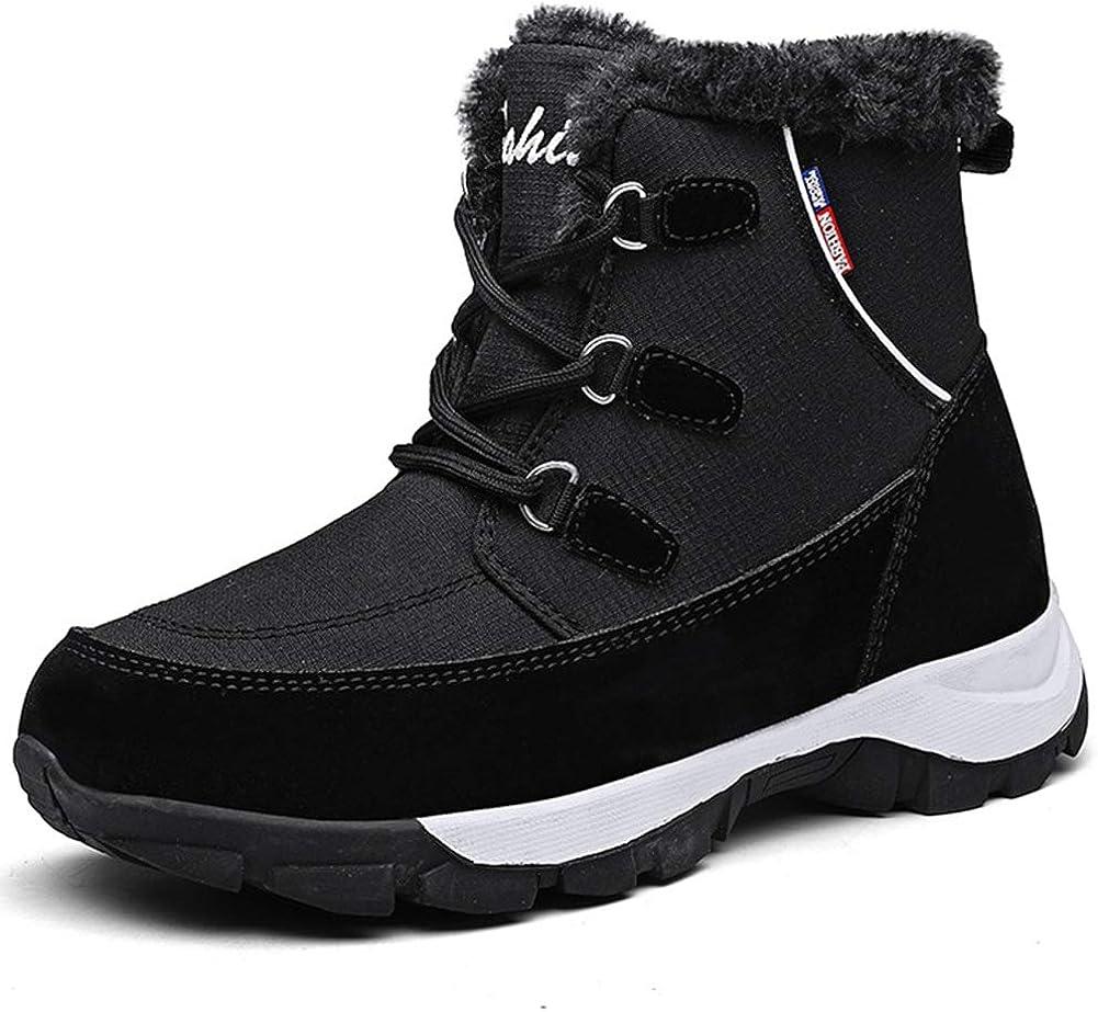 Vimisaoi Snow Boots for Women,Lace Up Rare Heel Combat Boo Overseas parallel import regular item Work Low