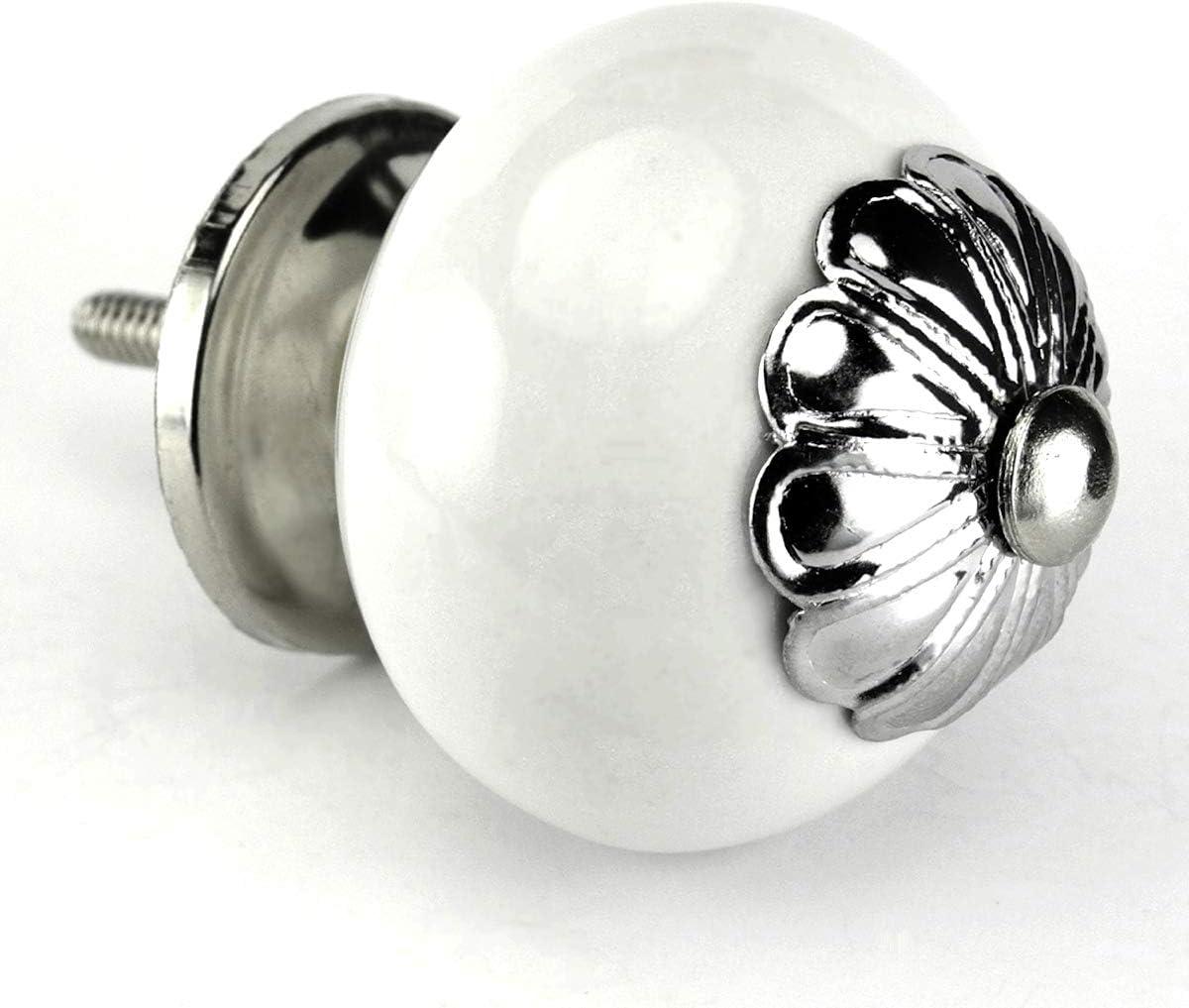 White trust Limited time trial price Ceramic Knobs 10pcs C110VM Kitchen Cupbo Furniture Dresser