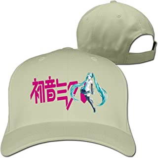 BODAP Hatsune Miku Girl Image Logo Adjustable Baseball Cap