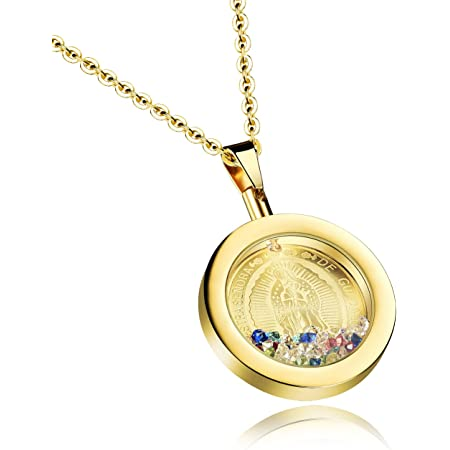 Guadalupe Necklace Our Lady of Guadalupe Medal Catholic jewelry Women/'s Chain Necklace