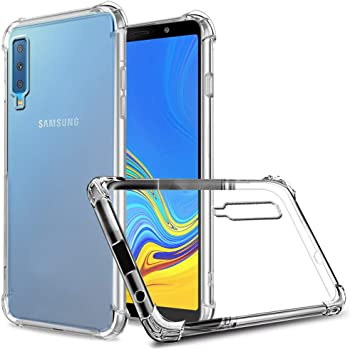 ZeKing Samsung Galaxy A7/A750 (2018) Case Anti-Scratch Crystal Clear Flexible TPU Silicone with Four Corner Bumper Protective Case Cover Compatible for Samsung Galaxy A7 (2018)(Transparent)