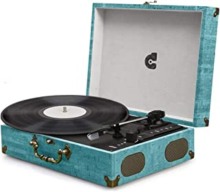 Record Player Turntable LP Vinyl Record Player with Speakers Phonograph Wireless Vintage Style Classic Turntable Suitcase Portable Record Player USB SD Play