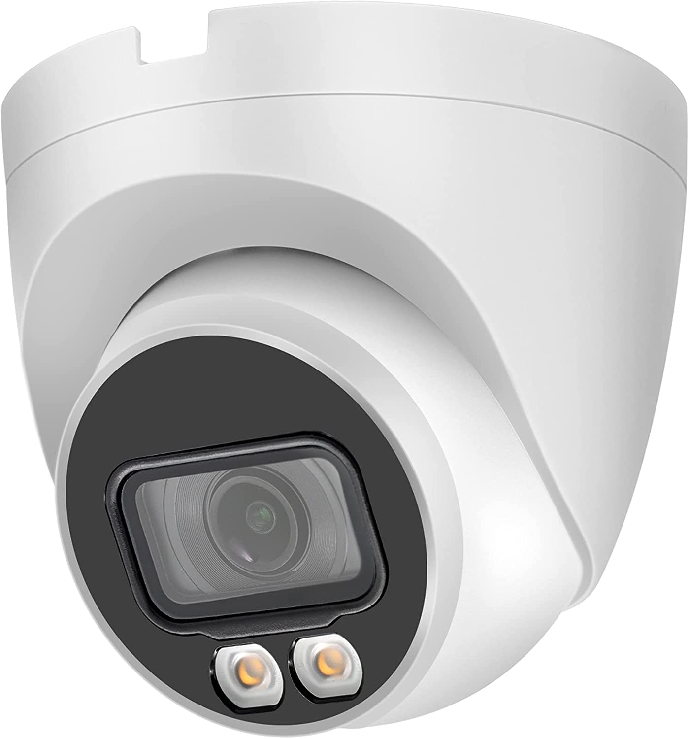 4MP Full Color Night Vision Security IP Camera Outdoor with Mic/Audio, Poe Surveillance Camera with Smart IVS , Micro SD Recording,IP67 ,H.265+,WDR,3D DNR,2.8mm Lens, 4MP@30fps