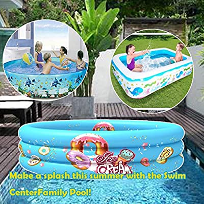 GIFTT Family Inflatable Swimming Pool, 110x110x...
