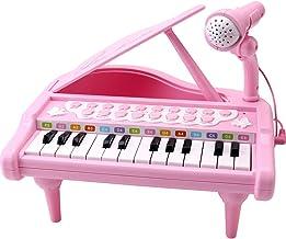 Amy&Benton Toddler Piano Toy Keyboard Pink for Girls