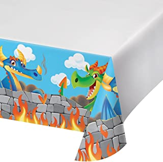 Creative Converting Plastic Tablecover, Dragon, One size