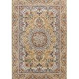 Tabriz Teppich, orientalisch, klassisch, groß, klein, mittelgroß, für Wohnzimmer, Schlafzimmer, fusselfrei, traditionell, 240 x 340 cm, beige/cremefarben