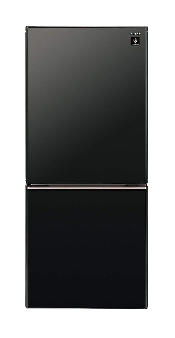 生産的セットアップ手伝うシャープ プラズマクラスター搭載 冷蔵庫 137L(幅48.0cm) つけかえどっちもドア ピュアブラック SJ-GD14D-B