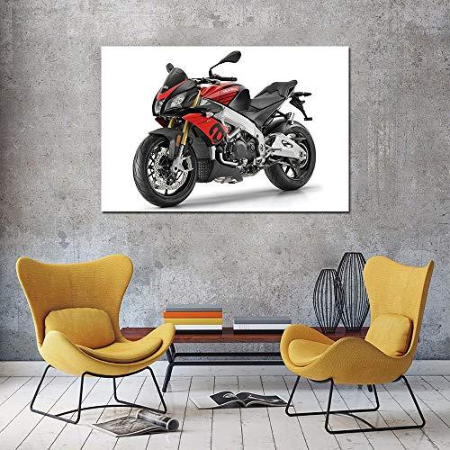 PLjVU Lienzo Decorativo Pintura Carteles e Impresiones de Motocicletas decoración Mural de la habitación-Sin marco40x60cm