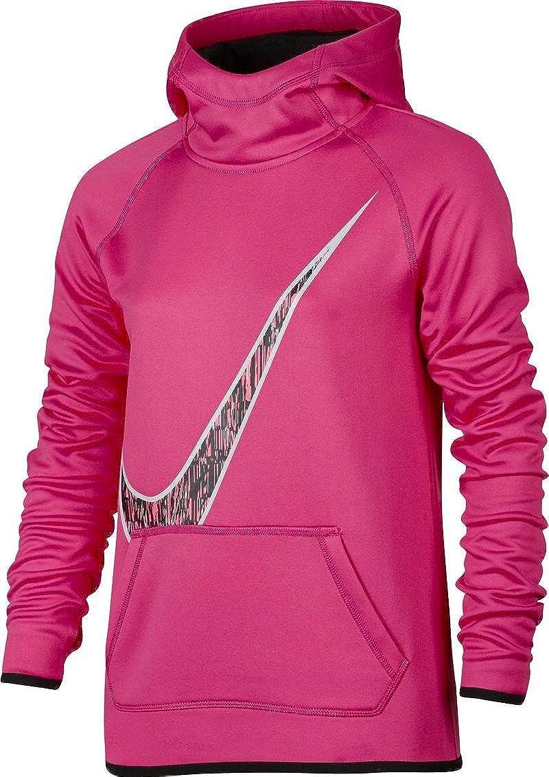 Nike Girls' Therma Swoosh GFX Hoodie Pink